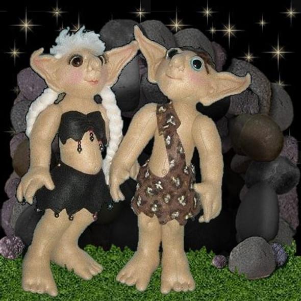 Judsi and Yopu - Cloth Troll Doll Sewing Pattern by Judi Ward