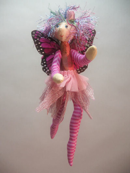 Flower Fairy - Cloth Doll Sewing Pattern - Paper Mailed Pattern  by Julie McCullough