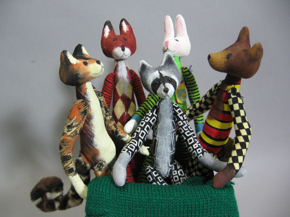 Little Critters - Cloth Doll Animal Sewing Pattern - Paper Mailed Pattern  by Julie McCullough