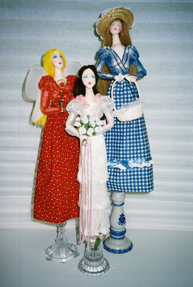 Candlestick Clarice - Cloth Doll Sewing Pattern by Judi Ward