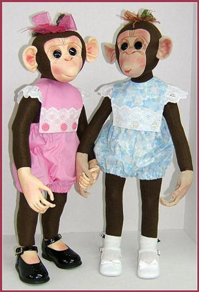 Molly Monkey - Cloth Animal Doll Sewing Patterns by Judi Ward