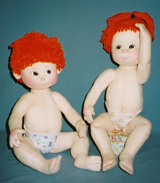 The Turnip Truck Tots, Joshua and Jandrea Cloth Doll Pattern by Judi Ward