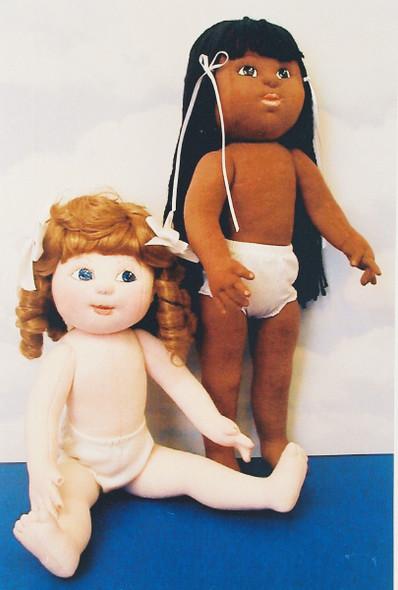 """18"""" Dress Me Dolls - Cloth Doll Sewing Pattern by Judi Ward"""