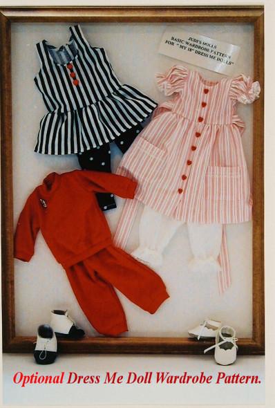 "18"" Dress Me Dolls - Cloth Doll Sewing Pattern by Judi Ward"