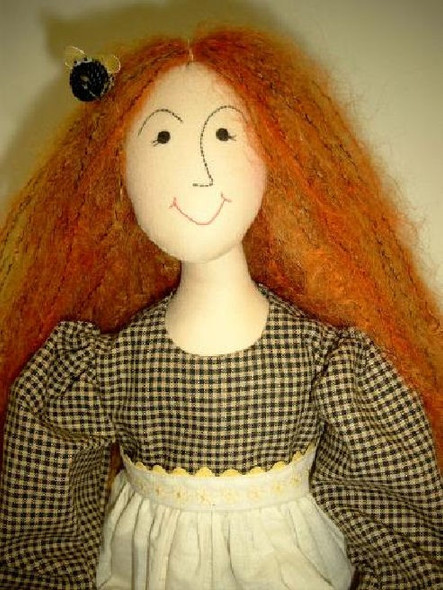 "Annie Bee'ds Knees - 27"" Cloth Doll Sewing Pattern by Judi Ward"