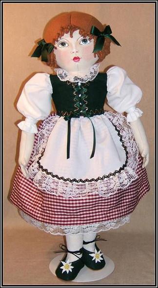 "Hannah Maggie - 21"" Vintage Style Cloth Doll Sewing Pattern by Judi Ward"