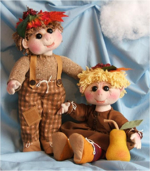 "Little German Forest Folk and Their ""Precious Pear"" - Cloth  Doll Sewing Patterns by Judi Ward"