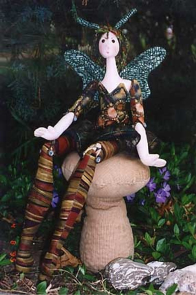 Wood Nymph - Cloth Doll Sewing Pattern - Paper Mailed Pattern  by Julie McCullough