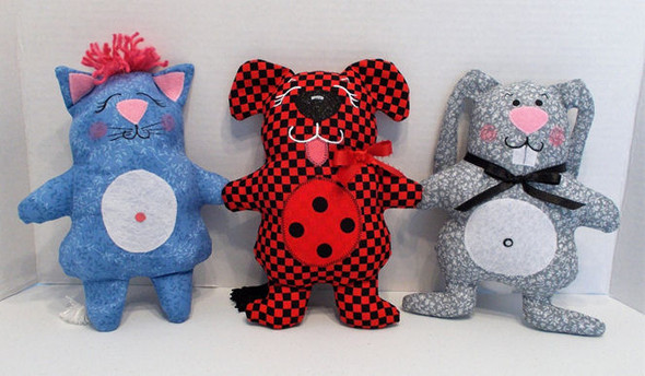 Simple Little Baby Toys  - Cloth Soft Animal Doll Sewing Pattern by Judi Ward