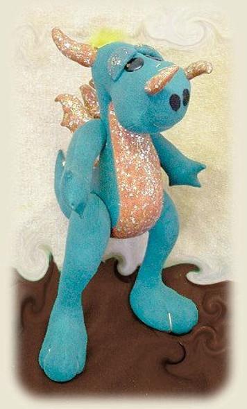 Darrell the Dragon - Cloth Doll  Sewing Pattern by Judi Ward