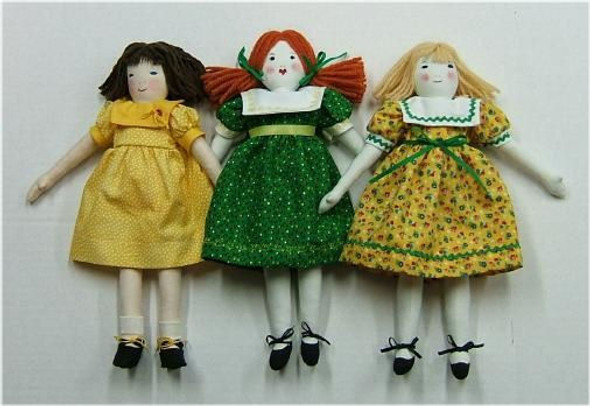 A Little Counterpane Doll in 2 Styles - Cloth Doll Sewing Pattern by Judi Ward