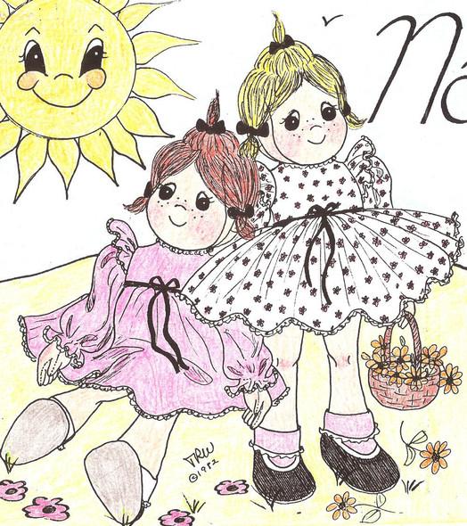 Natalie - We're Best Friends -  Vintage Cloth Doll Sewing Pattern by Judi Ward