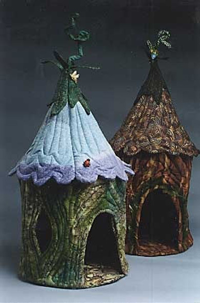 Fairy Houses - Cloth  Sewing Pattern - Paper Mailed Pattern by Julie McCullough of Magic Threads Design