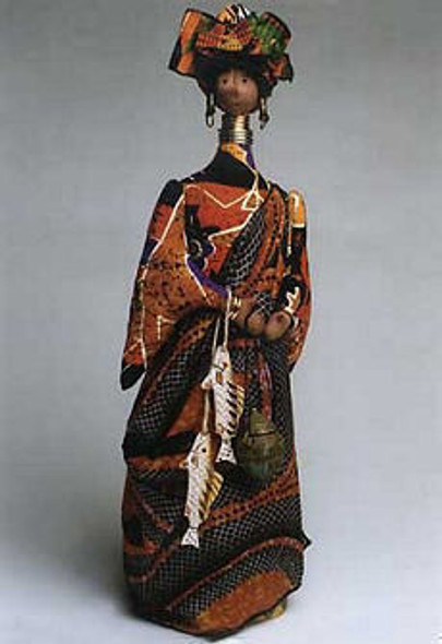 African Queen - Cloth Doll Sewing Pattern - Paper Mailed Pattern by Julie McCullough