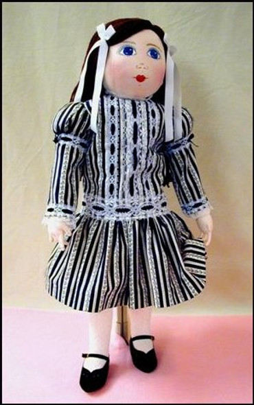 Mary - Vintage Style Cloth Doll Sewing Pattern by Judi Ward