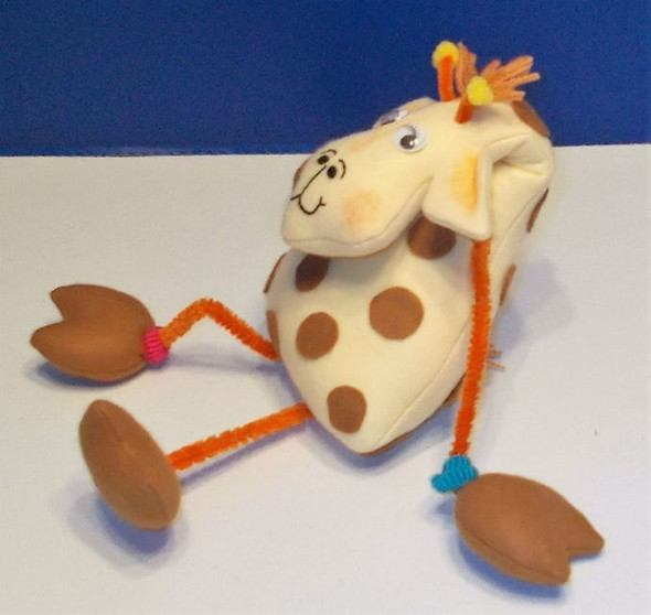 Gerald Giraffe - A Bent Neck Giraffe  - Cloth Animal Doll Sewing Pattern by Judi Ward