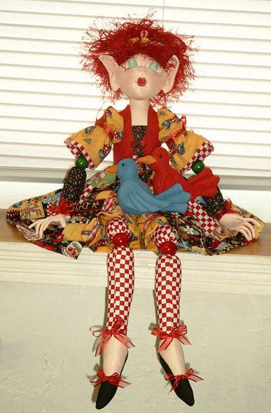 Birdie - Cloth Fairy or Pixie Doll Sewing Pattern by Judi Ward