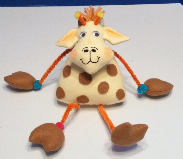 Gerald Giraffe  - A Bent Neck Giraffe Soft Doll Animal e-Pattern - PDF Download Sewing Pattern