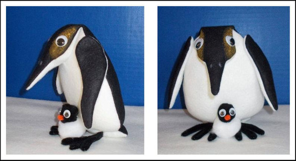 Penguin Dolls  - Soft Doll Animal Sewing E-Pattern - PDF Download Sewing Pattern