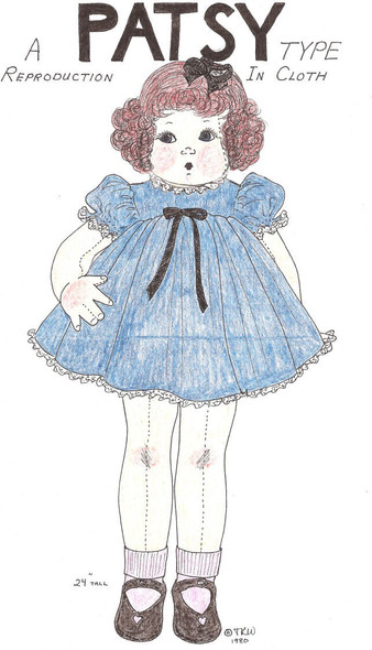 Patsy -  Vintage Cloth Doll Sewing Pattern by Judi Ward