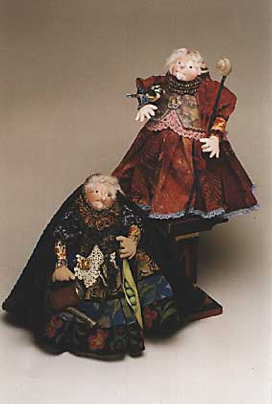 Secret Keeper - Cloth Stump Doll Sewing Pattern - Paper Mailed Pattern by Julie McCullough