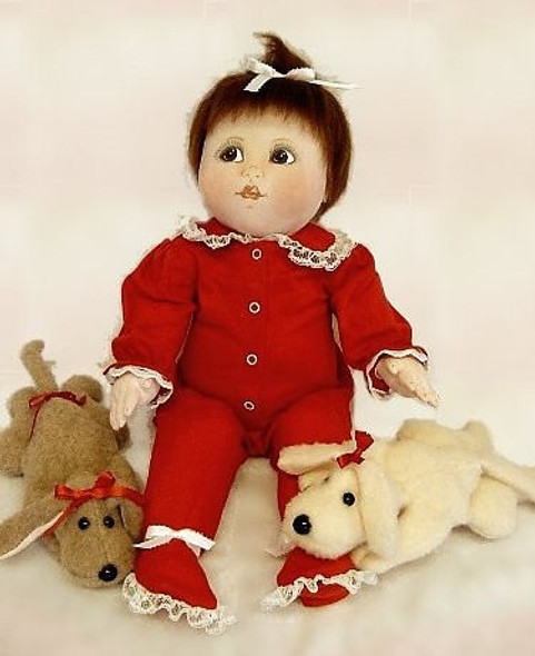 """""""Baby Bottoms"""" and """"Precious Puppy"""" - Cloth Baby Doll and Puppy Sewing Patterns by Judi Ward"""