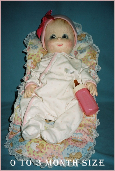 Baby Doll Sewing Pattern - 0 to 3 Months Size Baby by Judi Ward