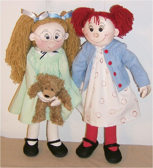 Violet Pickles and Ruby Buttons - Cloth Rag Doll Sewing Pattern by Judi Ward