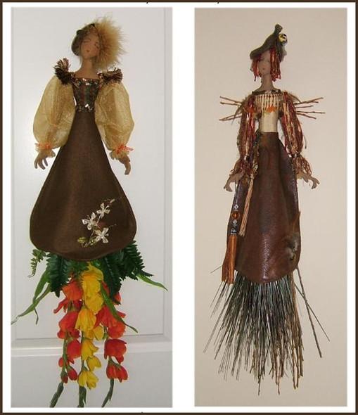 Organic  - Wall Cloth Doll Sewing Pattern by Judi Ward