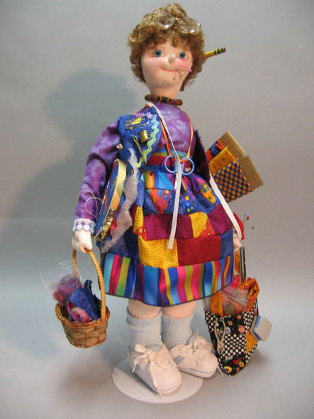 Crazy Quilter - Cloth Doll Sewing Pattern - Paper Mailed Pattern by Julie McCullough