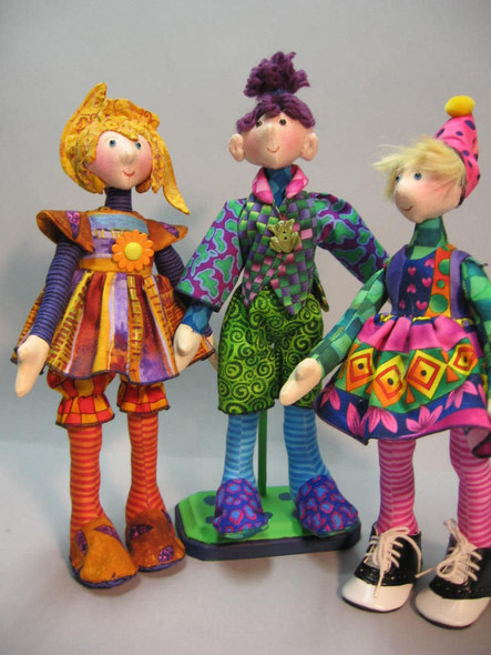 Snippets - Cloth Doll Sewing Pattern - Paper Mailed Pattern by Julie McCullough