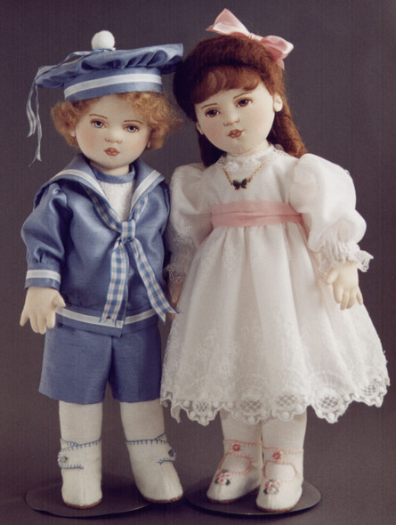 Ned & Ellie - Kezi's Victorian Children Cloth Doll Pattern