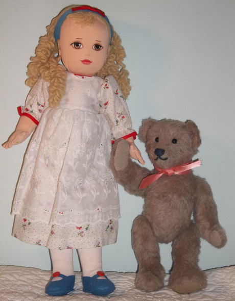 Goldie & the Bear by Kezi Cloth Doll and Soft Animal Patterns