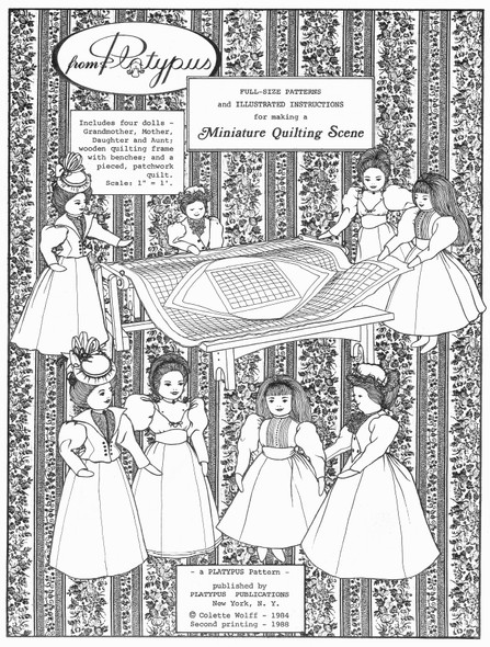 MINIATURE QUILTING SCENE by Colette Wolff - Cloth Doll Pattern
