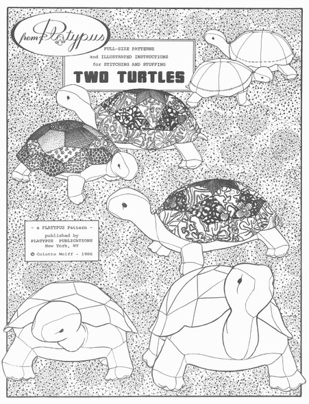 TWO TURTLES by Colette Wolff - Cloth Doll Pattern by Platypusnow