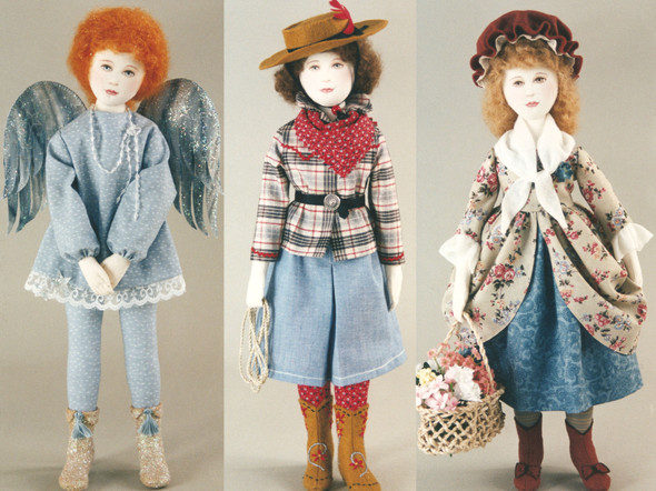 """""""Trio"""" by Kezi   Cloth Doll Patterns"""