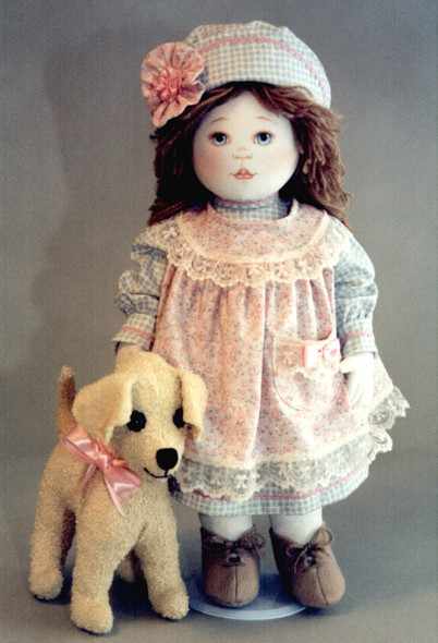 Alsea and Soozie by Kezi Cloth Doll and Dog Pattern