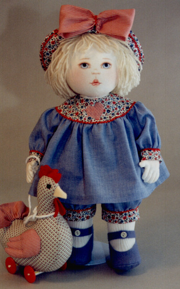 Dilley and Chick by Kezi Cloth Doll and Animal Pattern