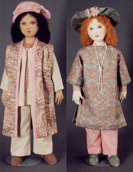 Justine and Monique by Kezi - Cloth Doll Patterns