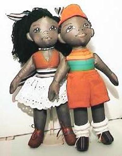 """BOBO"" by Sandra Blake - African American Cloth Doll Patterns"