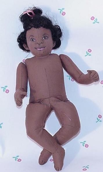 """LITTLE SUGAR"" by Sandra Blake - African American Cloth Baby Doll Pattern"