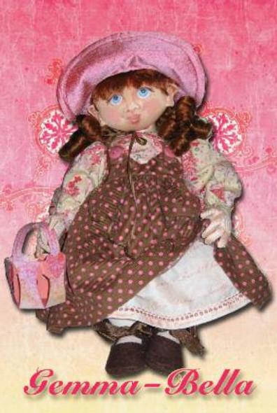 Gemma-Bella E-Pattern - FREE!  Cloth Doll Pattern by Kate Erbach - Cloth Doll PDF Download Class and Pattern