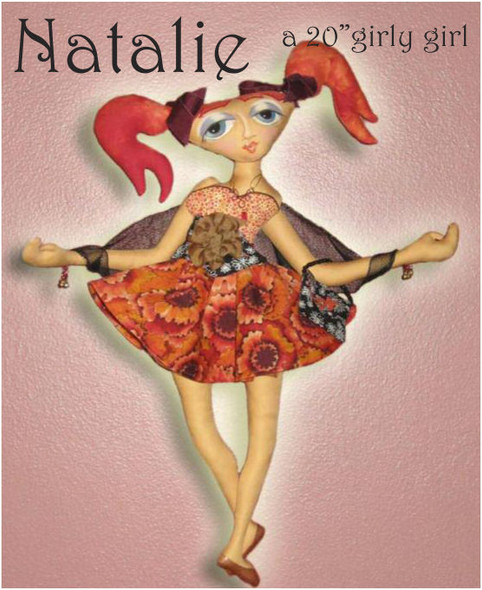 Natalie E-Pattern - Cloth Doll PDF Download Class and Pattern