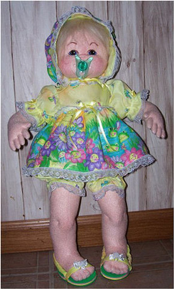 Awake/Asleep Pacifier Doll ~  Cloth Doll Making Sewing Class and Pattern