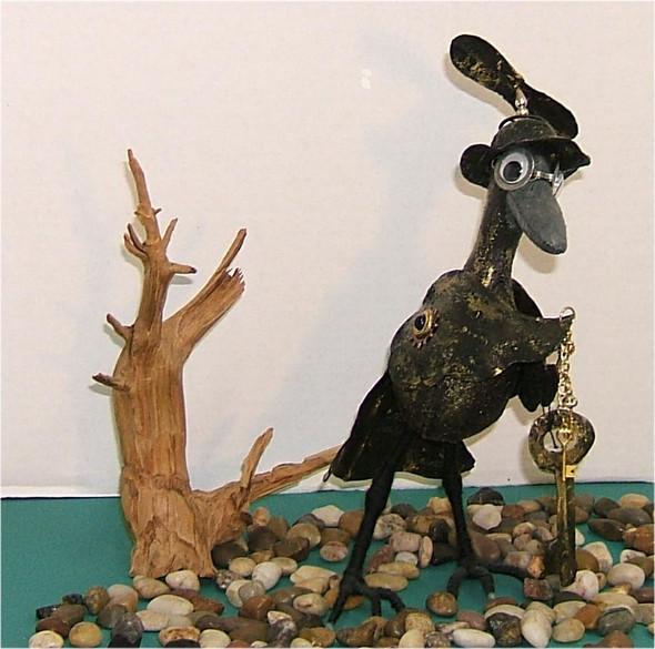Original Crow Silly Bird Cloth Doll by Judy Ward!