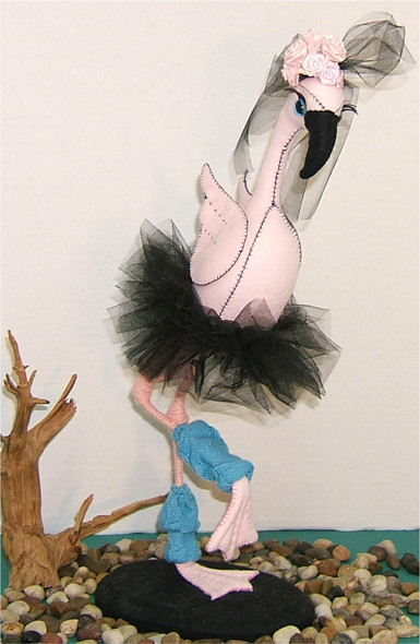 Felicity Flamingo Ballerina Silly Bird Cloth Doll by Judy Ward!