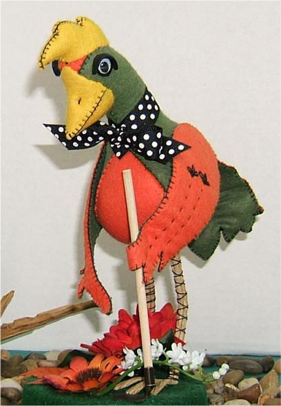 Gerite in Her Garden   - Silly Bird Cloth Doll by Judy Ward!