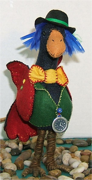 Oswald the Banker  - Silly Bird Cloth Doll by Judy Ward!