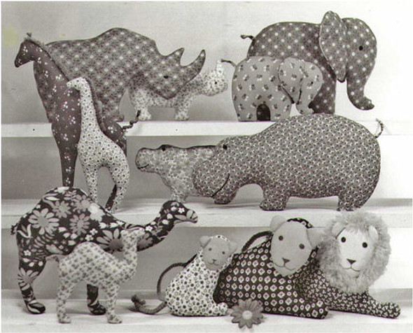 AFRICAN SILHOUETTE ANIMALS by Colette Wolff   - Cloth Doll Pattern