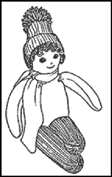 """SNOW BUNNY"" SOCK DOLL E-Pattern - FREE!"